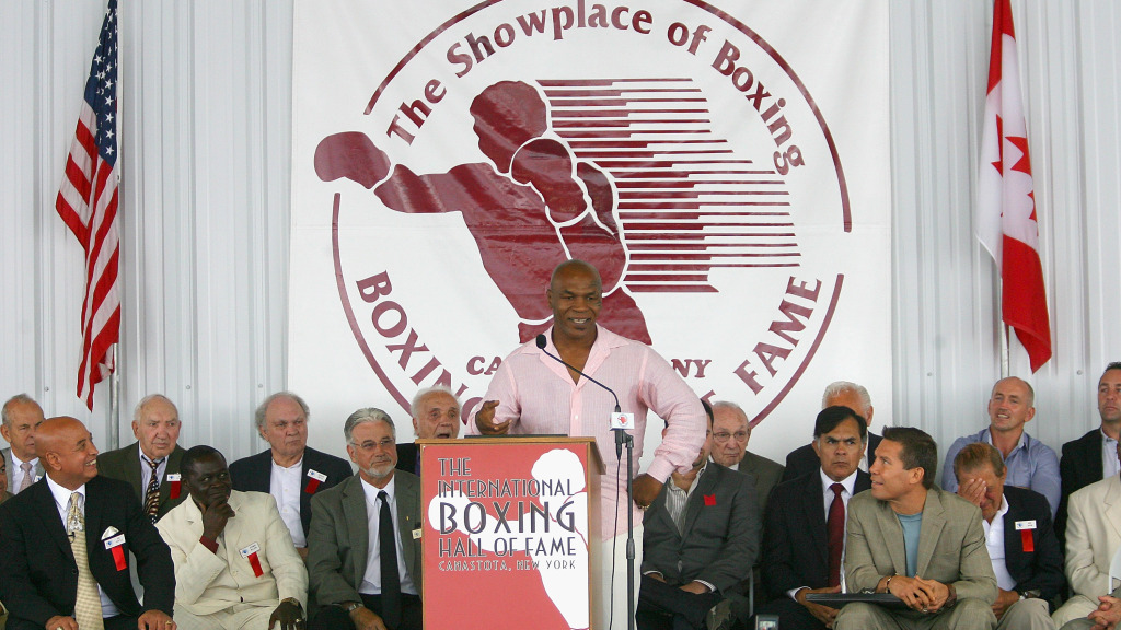 Mike Tyson inducted in the 2011 International Boxing Hall of Fame