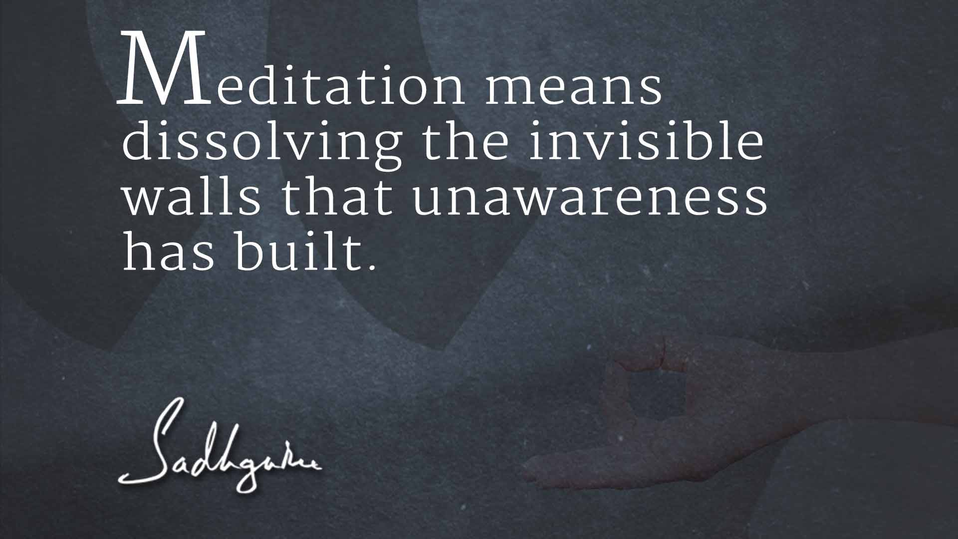 Transform yourselves with everyday meditation