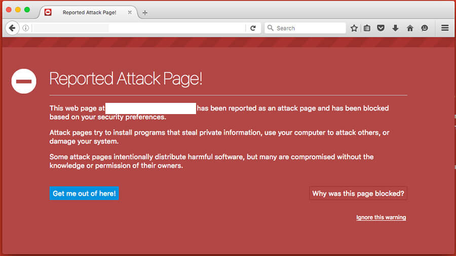 How to fix reported attack page