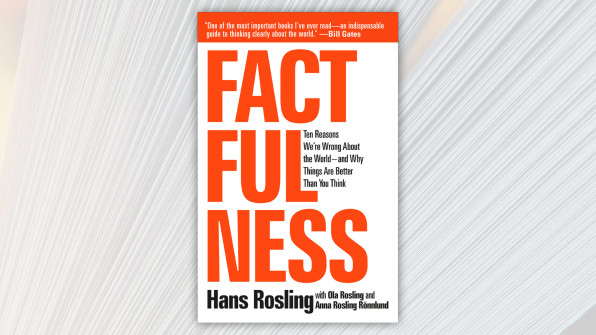 Factfulness, by Hans Rosling, with Ola Rosling and Anna Rosling Ronnlund.